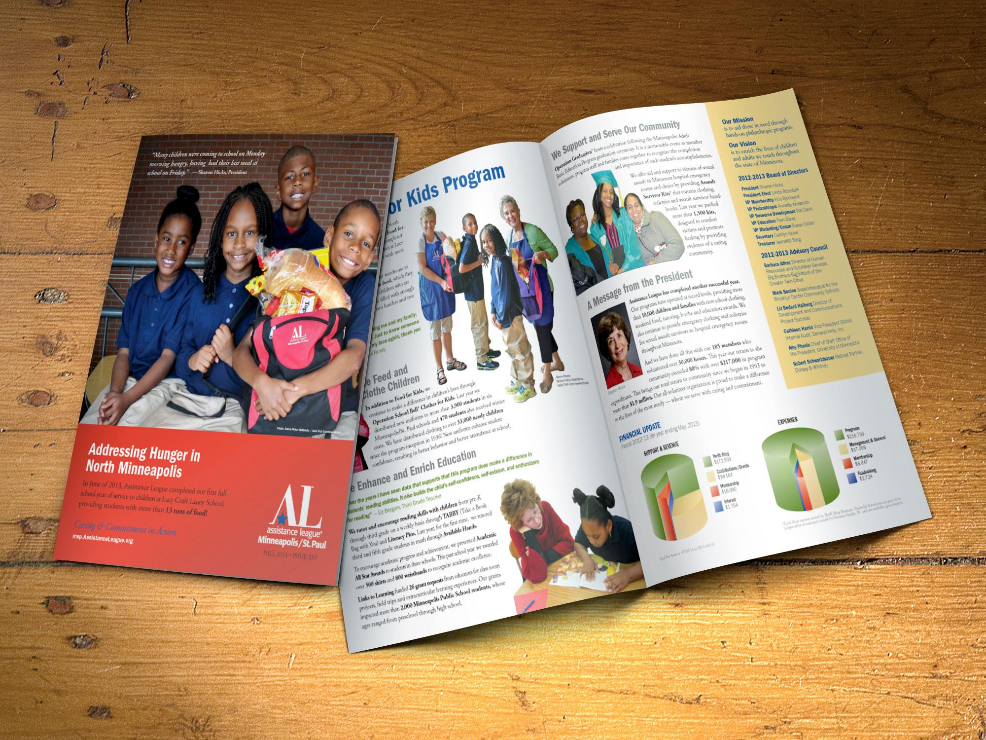 Assistance League annual report design 2013