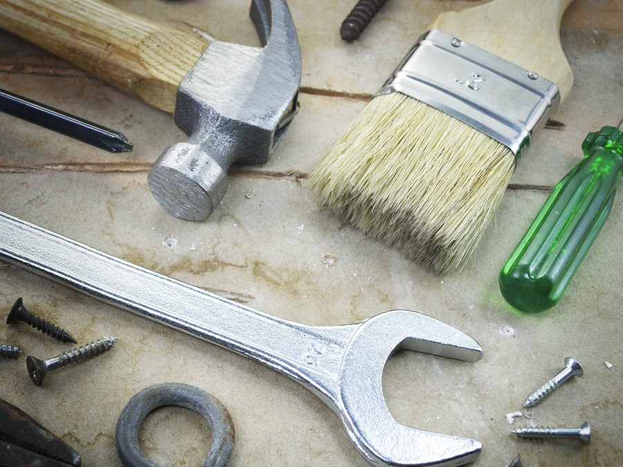 working home improvement hardware tools