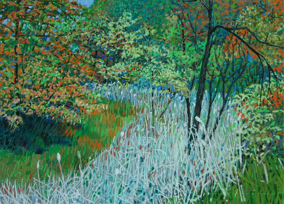 Change of Seasons Oil Pastel by Fred W. Peterson