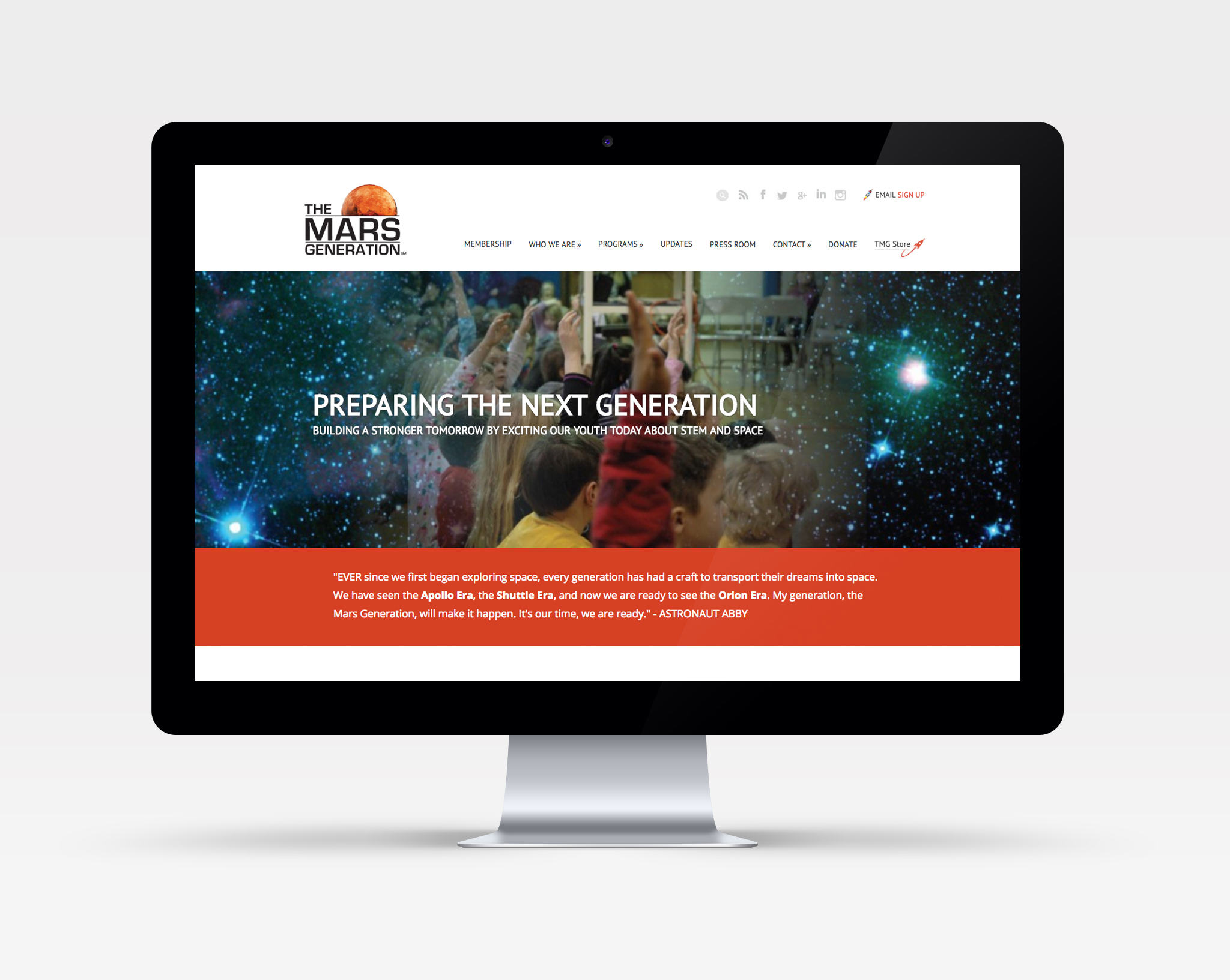 The Mars Generation Website