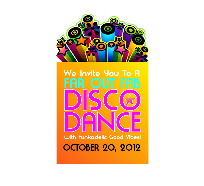 disco dance fundraiser e-blast design
